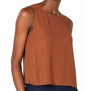 Eileen Fisher Dark Red Wool Ribbed Knit Top